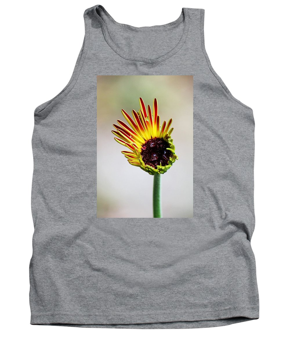 Flower Tank Top featuring the photograph Gerbera Bloom by Peggy Burley