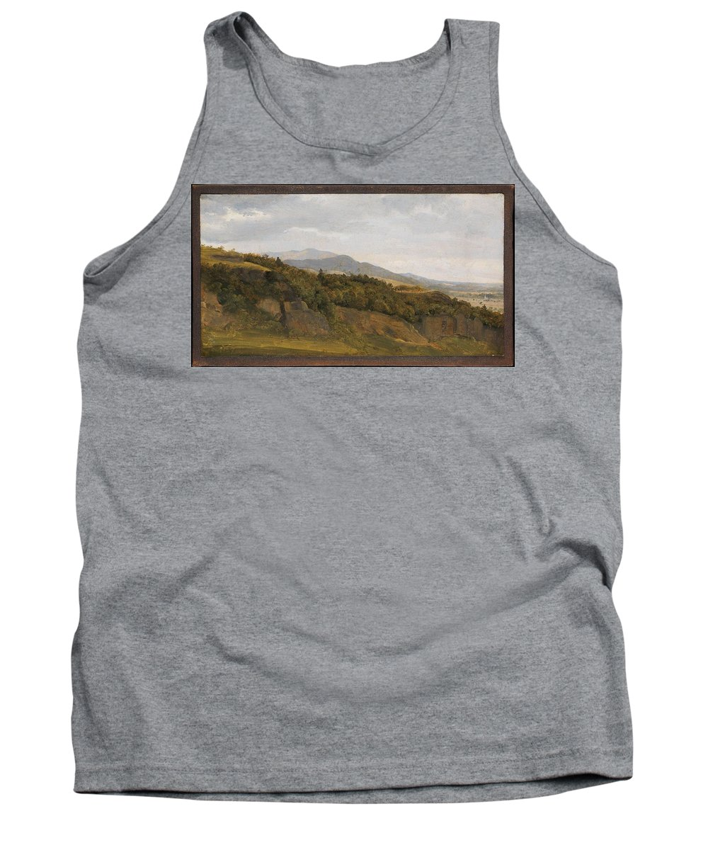 Nature Tank Top featuring the painting German Landscape With View Towards A Broad Valley , Fritz Petzholdt by Fritz Petzholdt