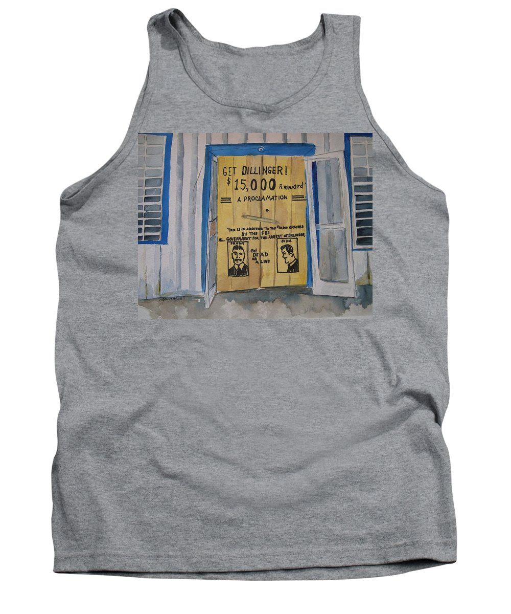 Building Tank Top featuring the painting Get Dillinger by Patricia Caldwell
