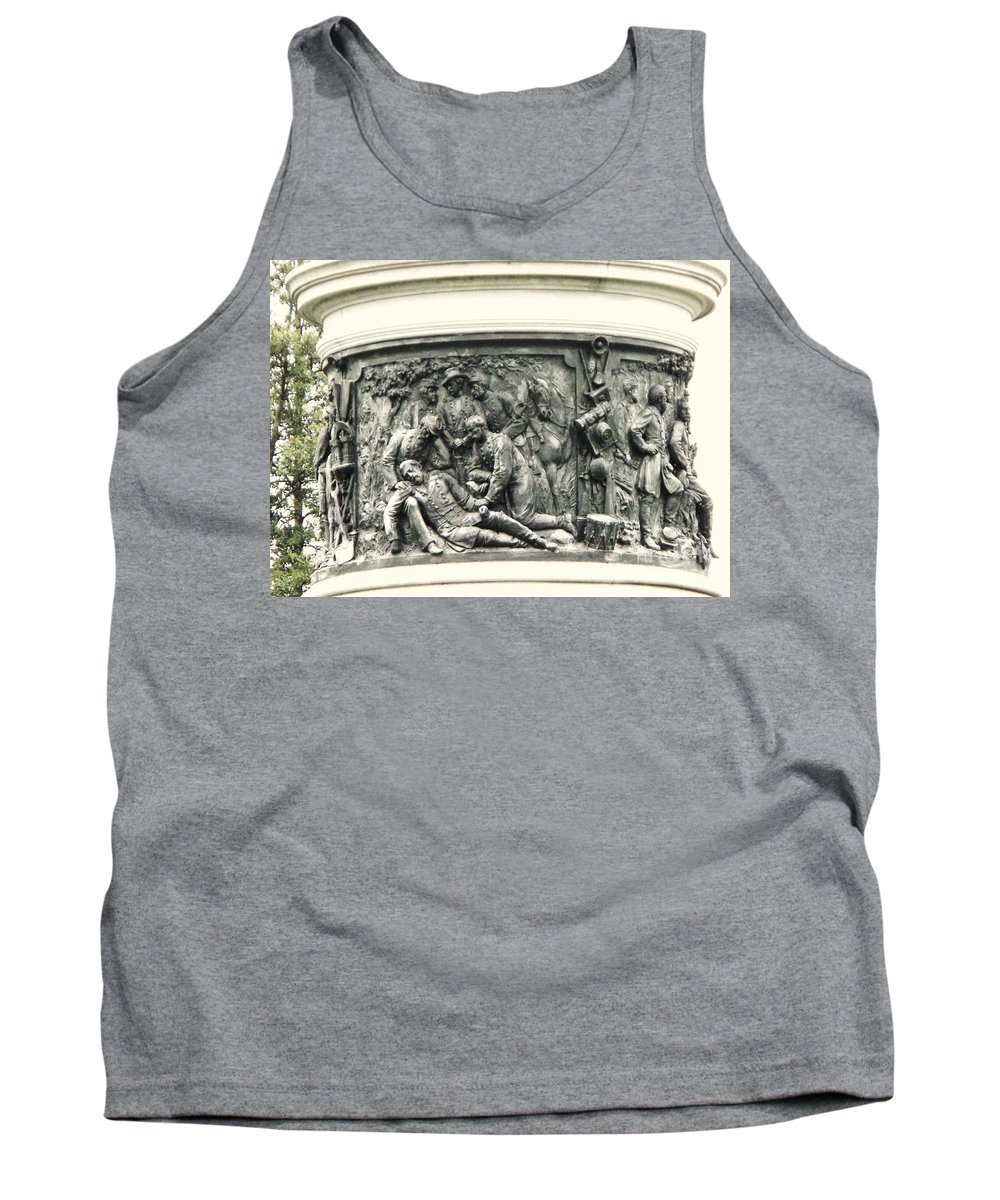 Gettysburg Tank Top featuring the photograph Gettysburg Monument by Eric Schiabor