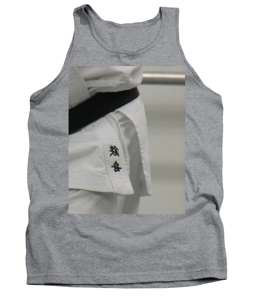 Karate Tank Top featuring the photograph Gi by Kelly Mezzapelle