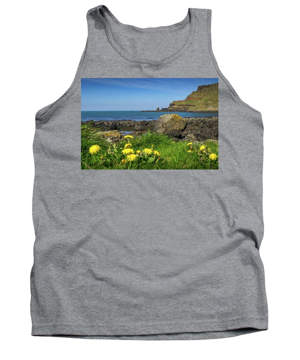 Ireland Tank Top featuring the photograph Giants Causeway by Mark Llewellyn