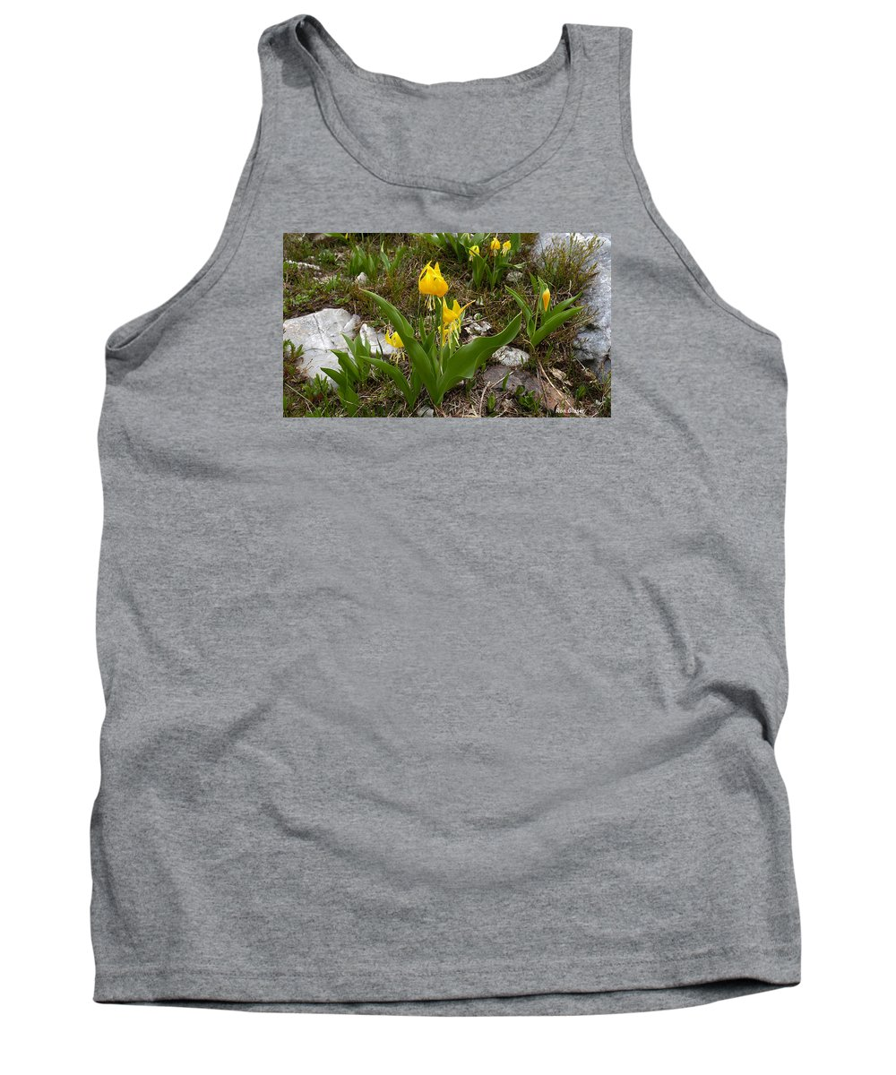Ron Glaser Tank Top featuring the photograph Glacier Lily 3 by Ron Glaser