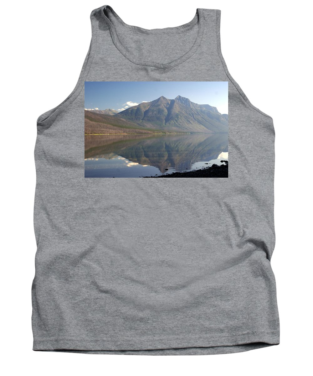 Glacier National Park Tank Top featuring the photograph Glacier Reflection1 by Marty Koch
