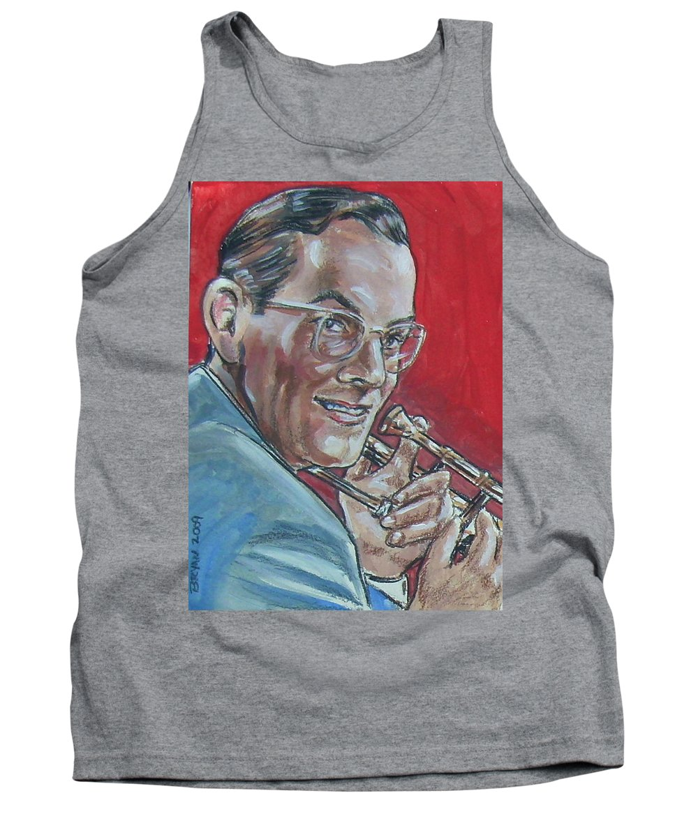 Glenn Miller Tank Top featuring the painting Glenn Miller by Bryan Bustard