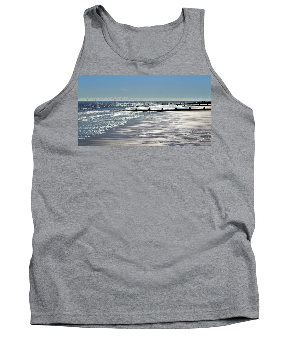 Sea Tank Top featuring the photograph Glistening Shore by Bel Menpes