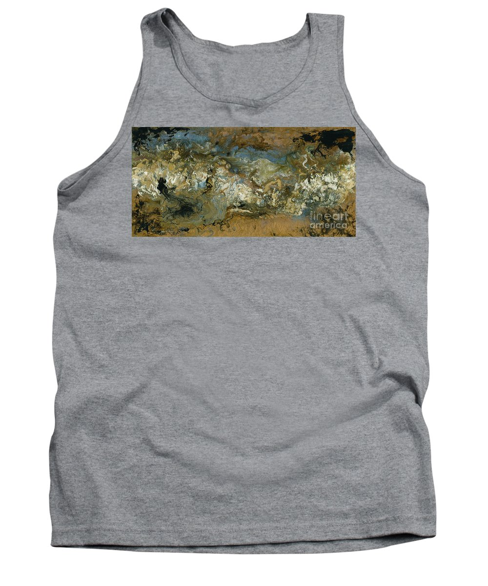Glorious Tank Top featuring the mixed media Glorious Riches by Nadine Rippelmeyer