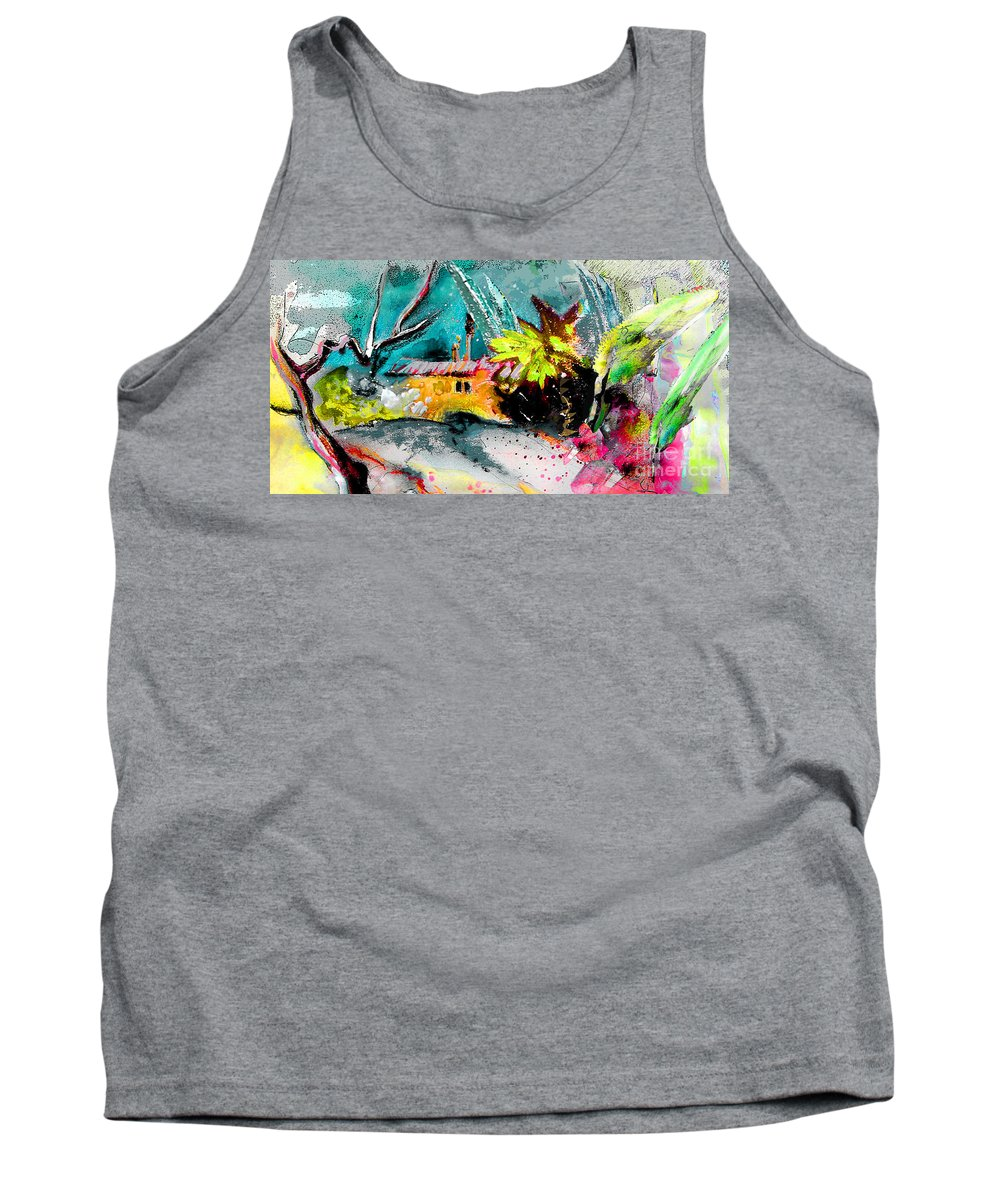 Pastel Painting Tank Top featuring the painting Glory Of Nature by Miki De Goodaboom