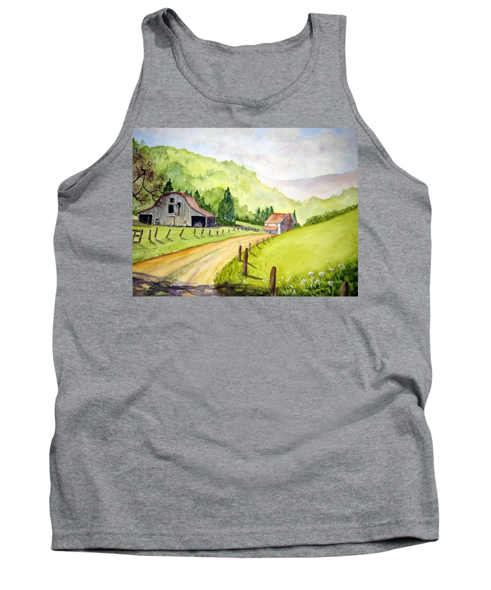 Barns Tank Top featuring the painting Going Home by Julia Rietz