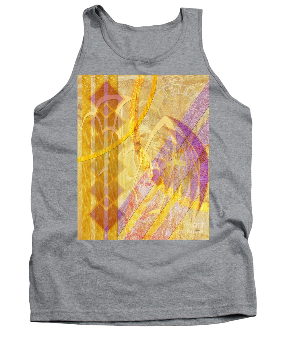 Gold Fusion Tank Top featuring the digital art Gold Fusion by John Beck