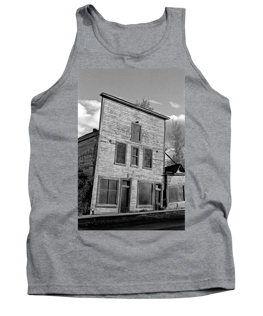 Gold Tank Top featuring the photograph Gold Rush Saloon - Dawson City by Juergen Weiss