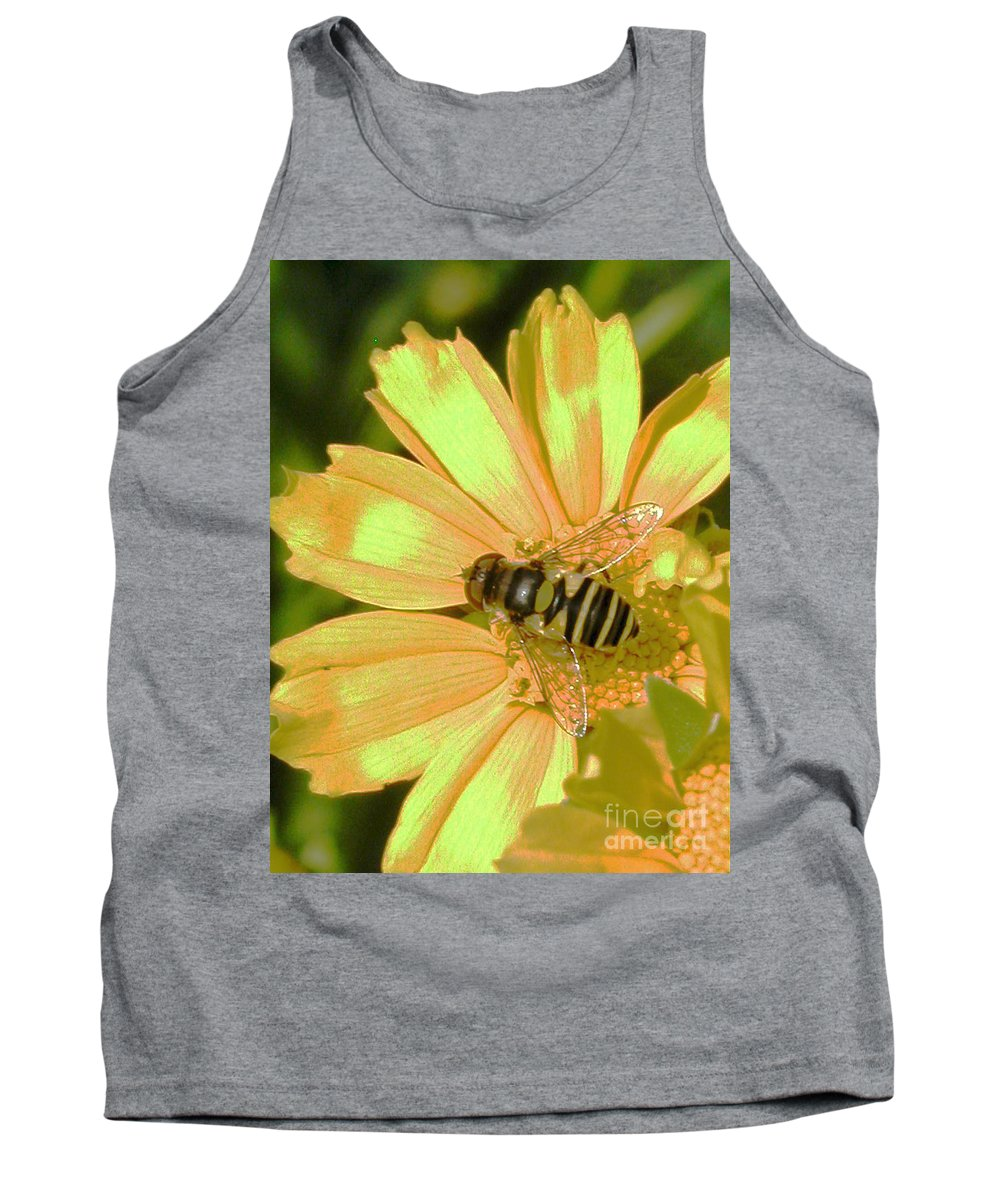 Bee Tank Top featuring the photograph Golden Bee by Karol Livote