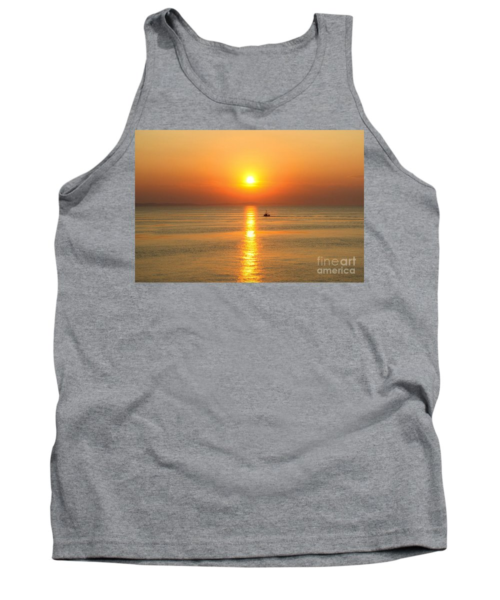 Gold Tank Top featuring the photograph Golden Border by James Anderson