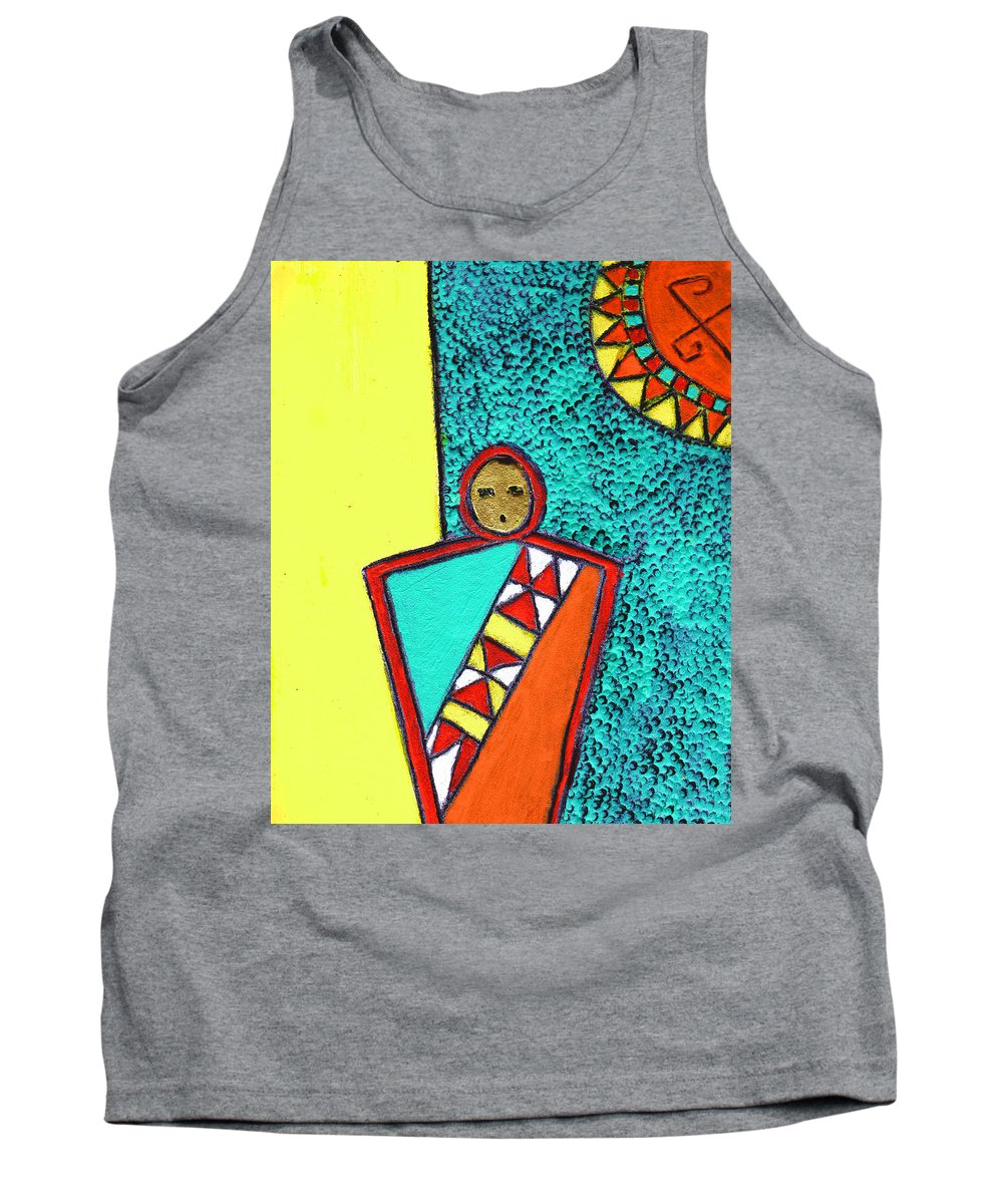 Southwest Tank Top featuring the painting Golden Child Of The South West by Wayne Potrafka
