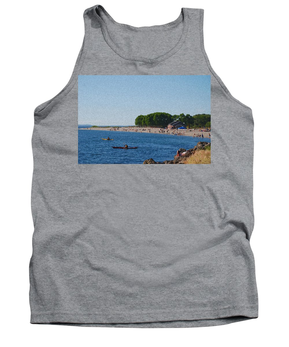Golden Gardens Tank Top featuring the photograph Golden Gardens In Seattle Washington by Carol Eliassen