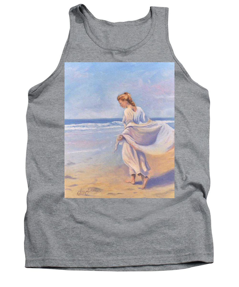 Beach Tank Top featuring the painting Golden Girls by Jay Johnson