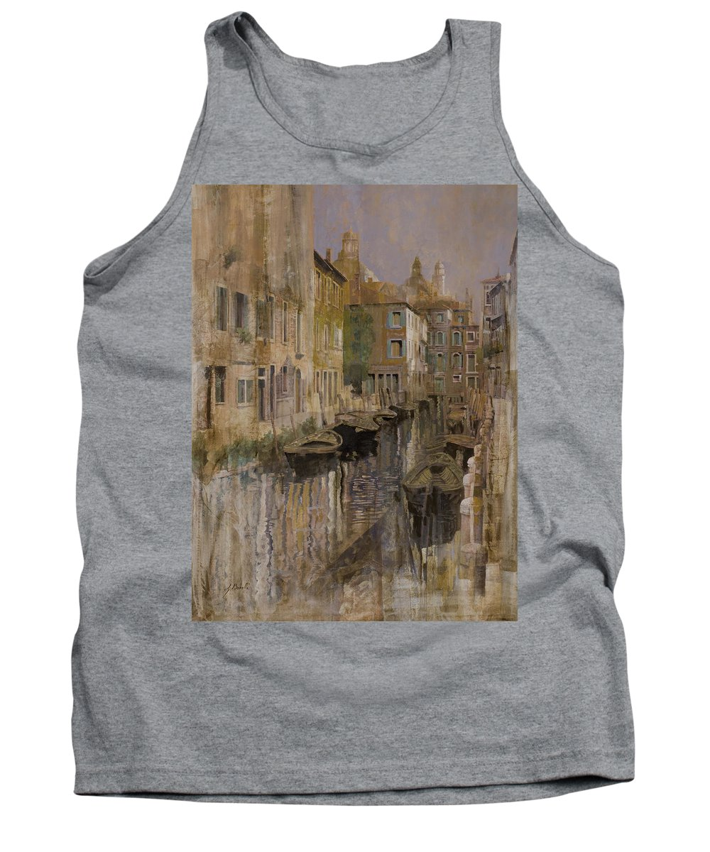 Venice Tank Top featuring the painting Golden Venice by Guido Borelli