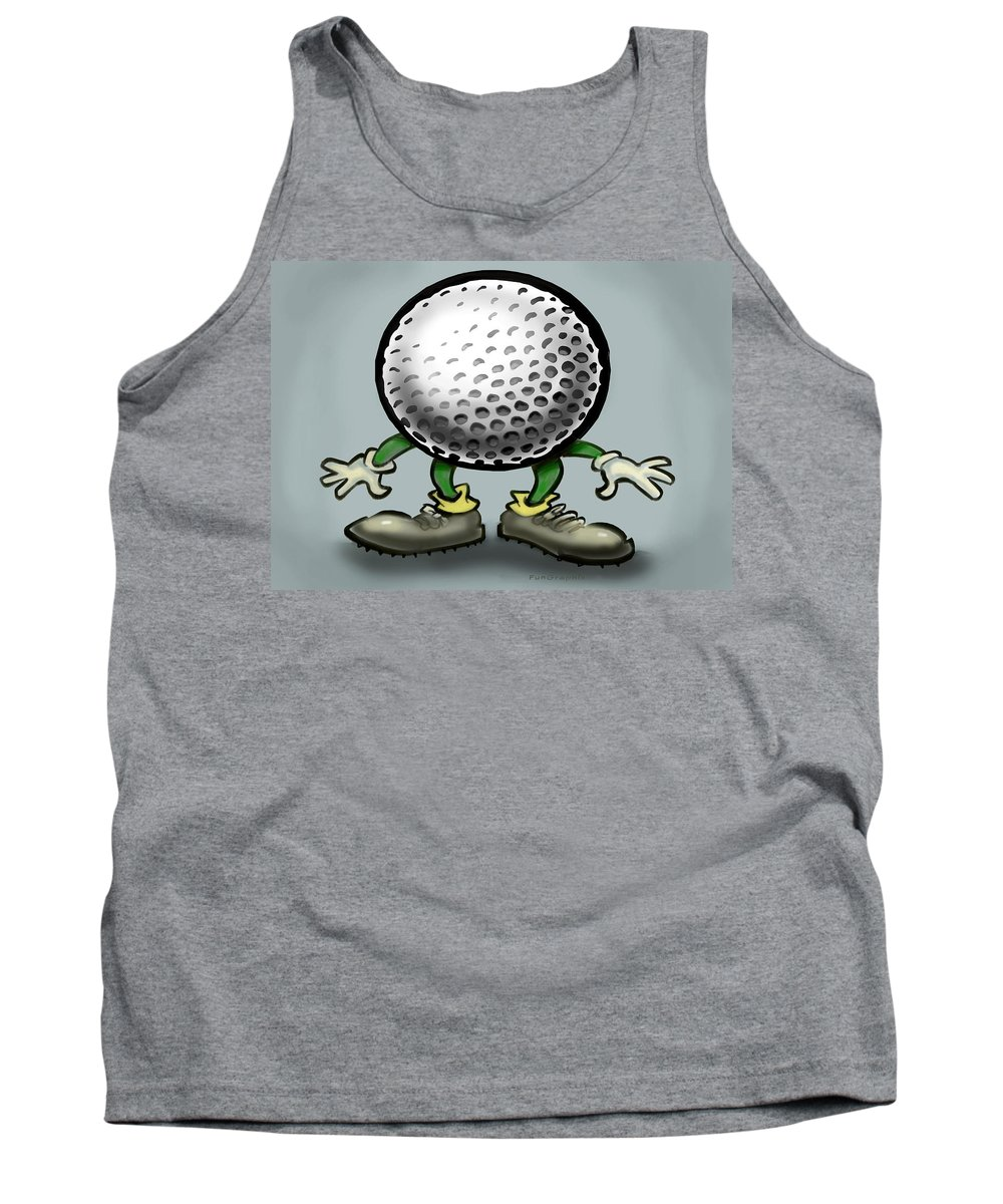 Golf Tank Top featuring the greeting card Golf by Kevin Middleton