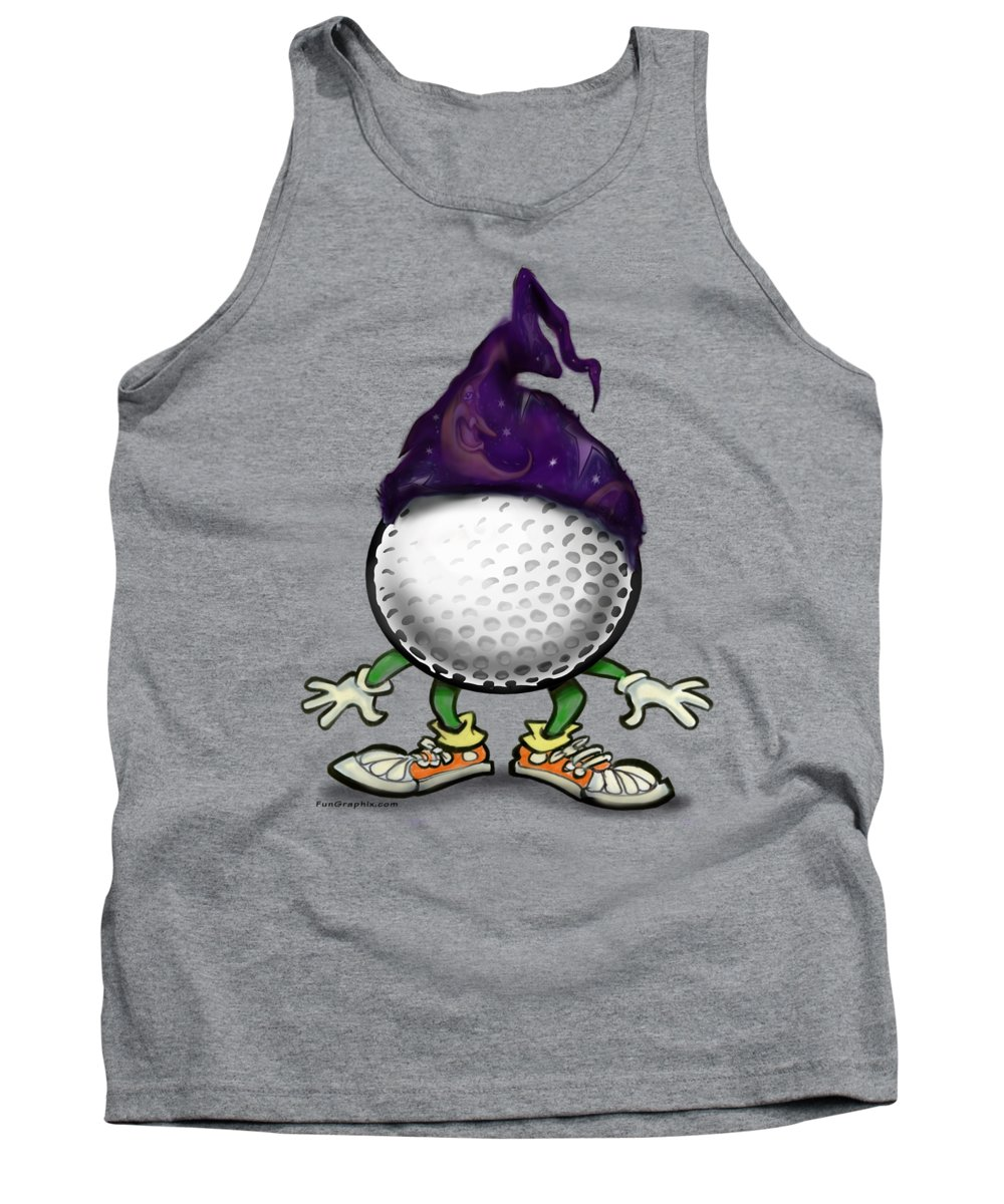 Golf Tank Top featuring the digital art Golf Wizard by Kevin Middleton