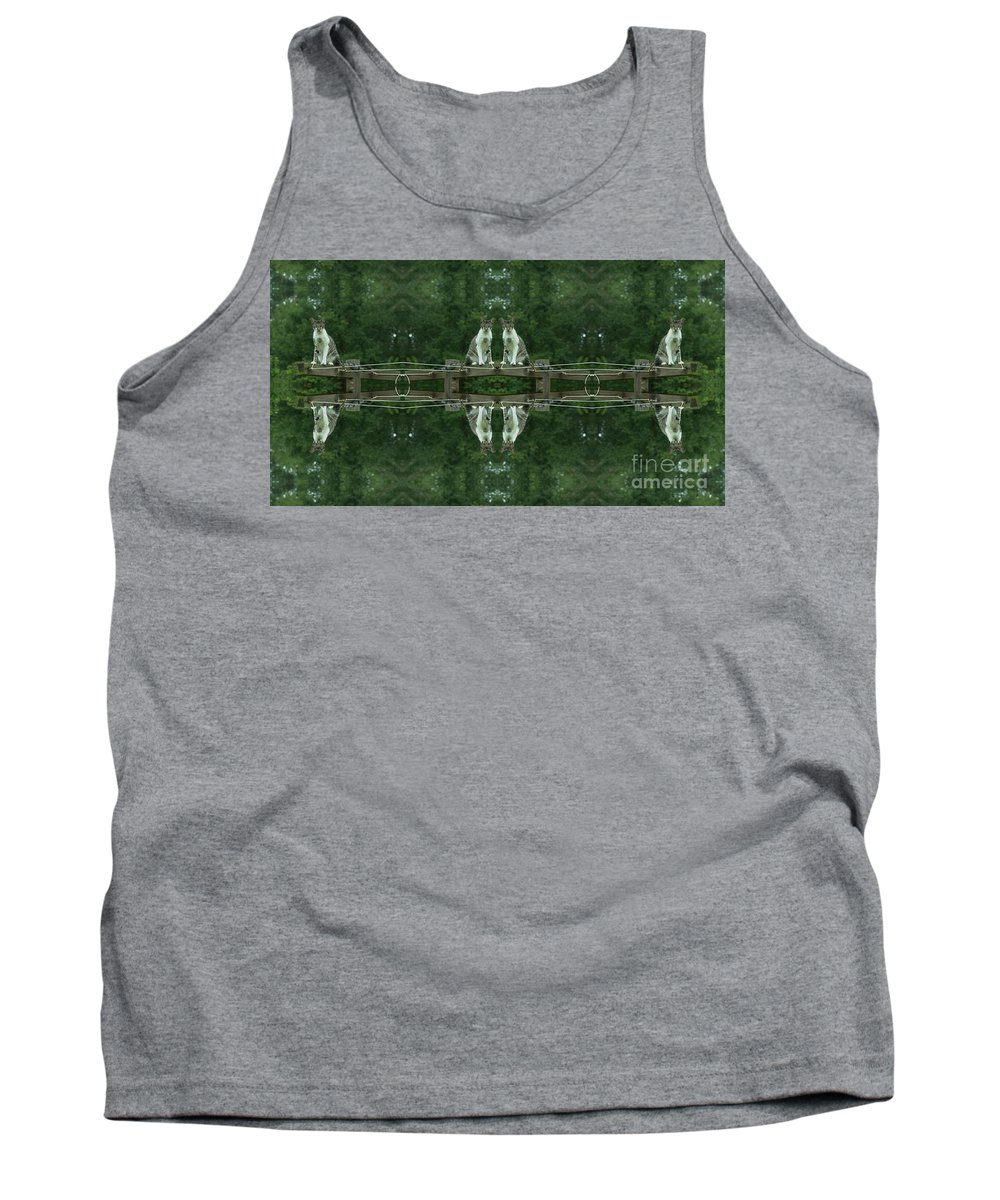 Animal Tank Top featuring the photograph Goober Reflectoscope by Donna Brown