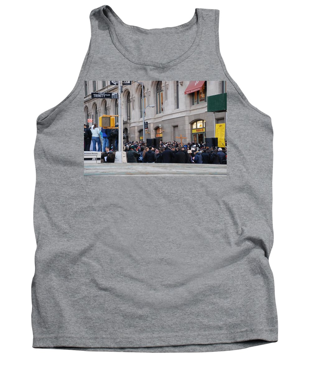 Church Tank Top featuring the photograph Good Friday On Trinity Place by Rob Hans