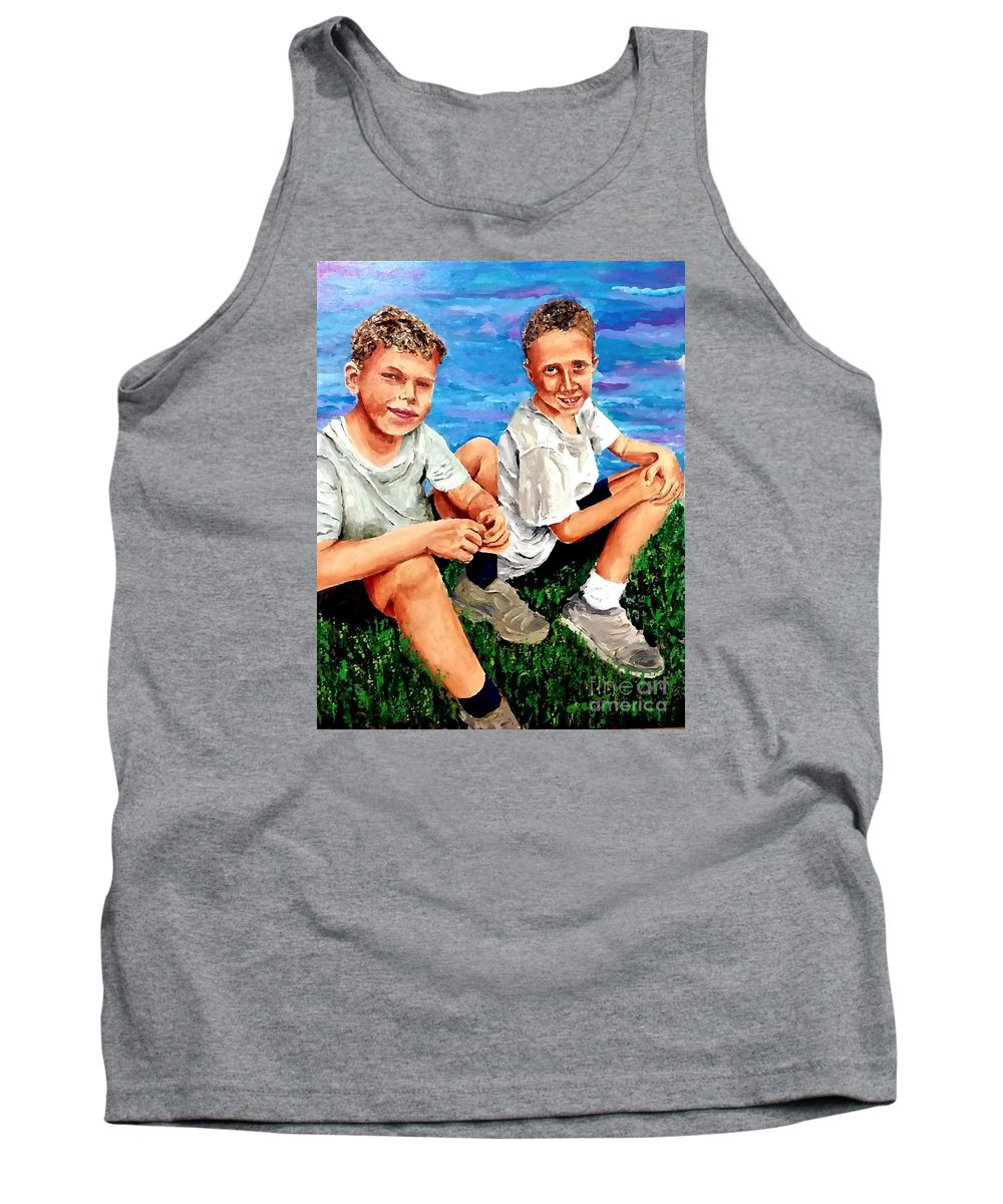 Good Friends Tank Top featuring the painting Good Friends S by Eli Gross