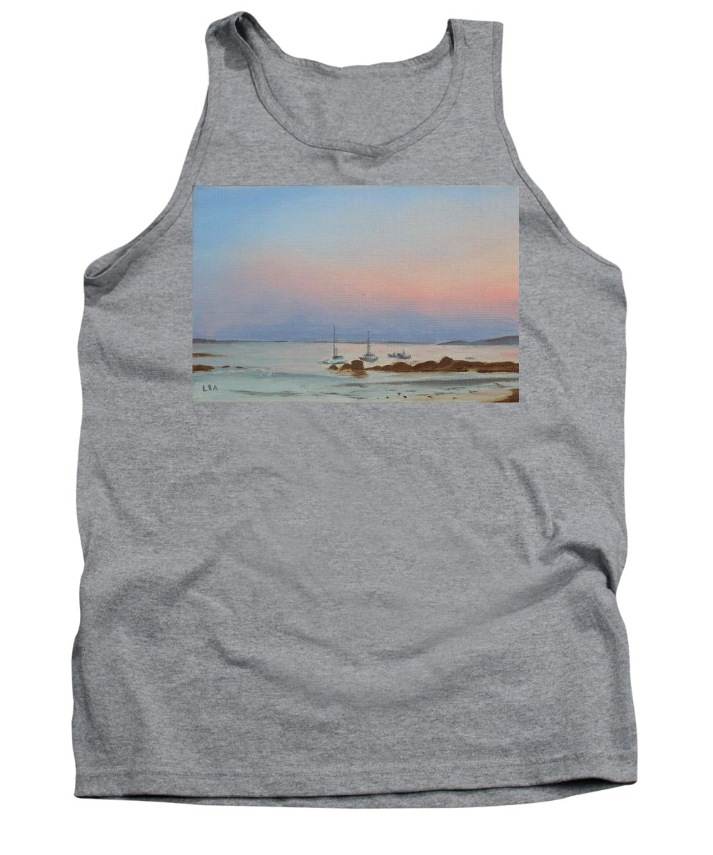 Seascape Tank Top featuring the painting Good Harbor by Lea Novak