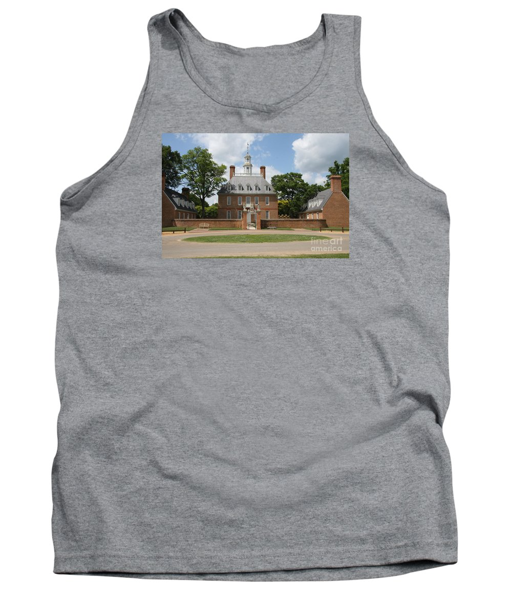 Governer Tank Top featuring the photograph Governers Palace - Williamsburg Va by Christiane Schulze Art And Photography