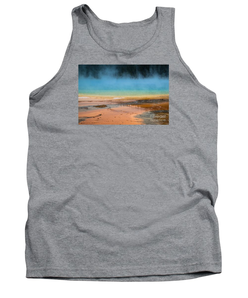 Yellowstone Tank Top featuring the photograph Grand Prismatic by Sandra McNair