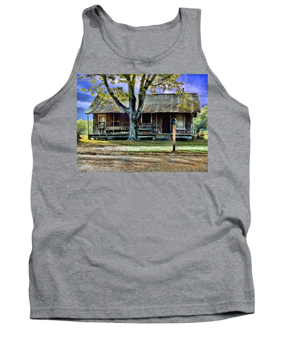 Old Tank Top featuring the photograph Grandmas House by Bob Welch