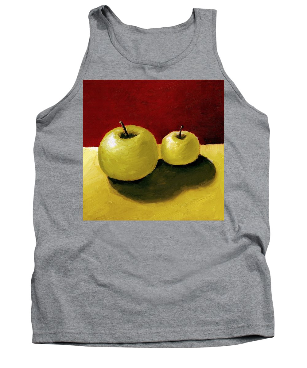 Apple Tank Top featuring the painting Granny Smith Apples by Michelle Calkins