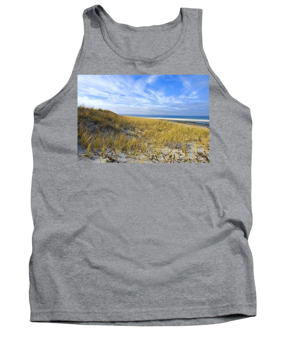Dunes Tank Top featuring the photograph Grassy Dunes by Charles Harden
