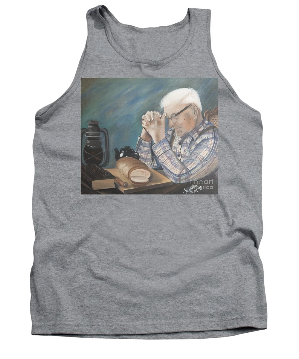 Great Grandpa Tank Top featuring the painting Great Grandpa by Jacqueline Athmann