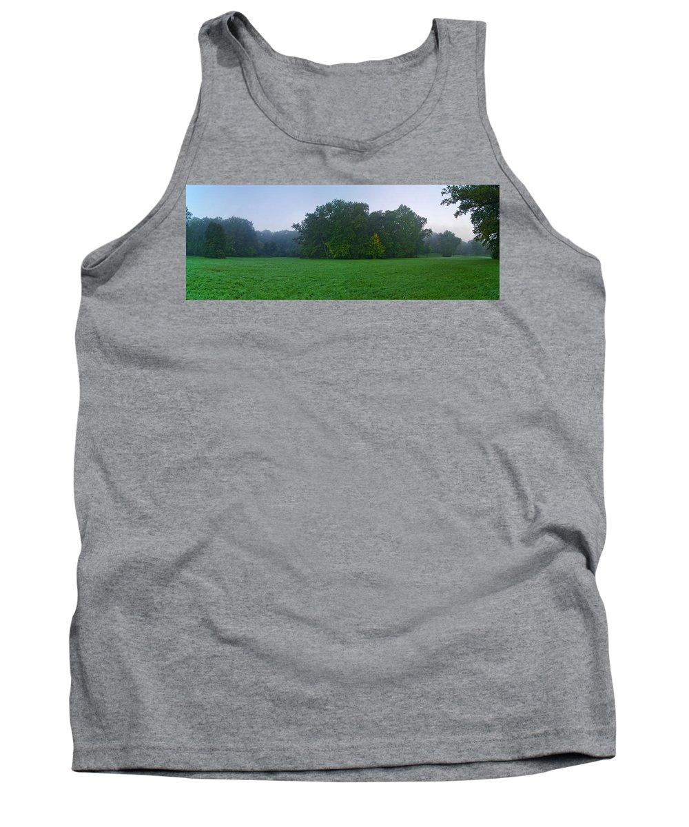 Landscape Park Tank Top featuring the photograph Green Meadow In Autumn by Sun Travels