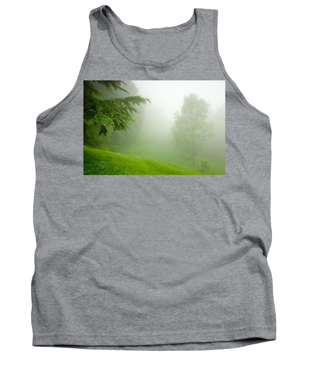 Mist Tank Top featuring the photograph Green Mist by Evgeni Dinev