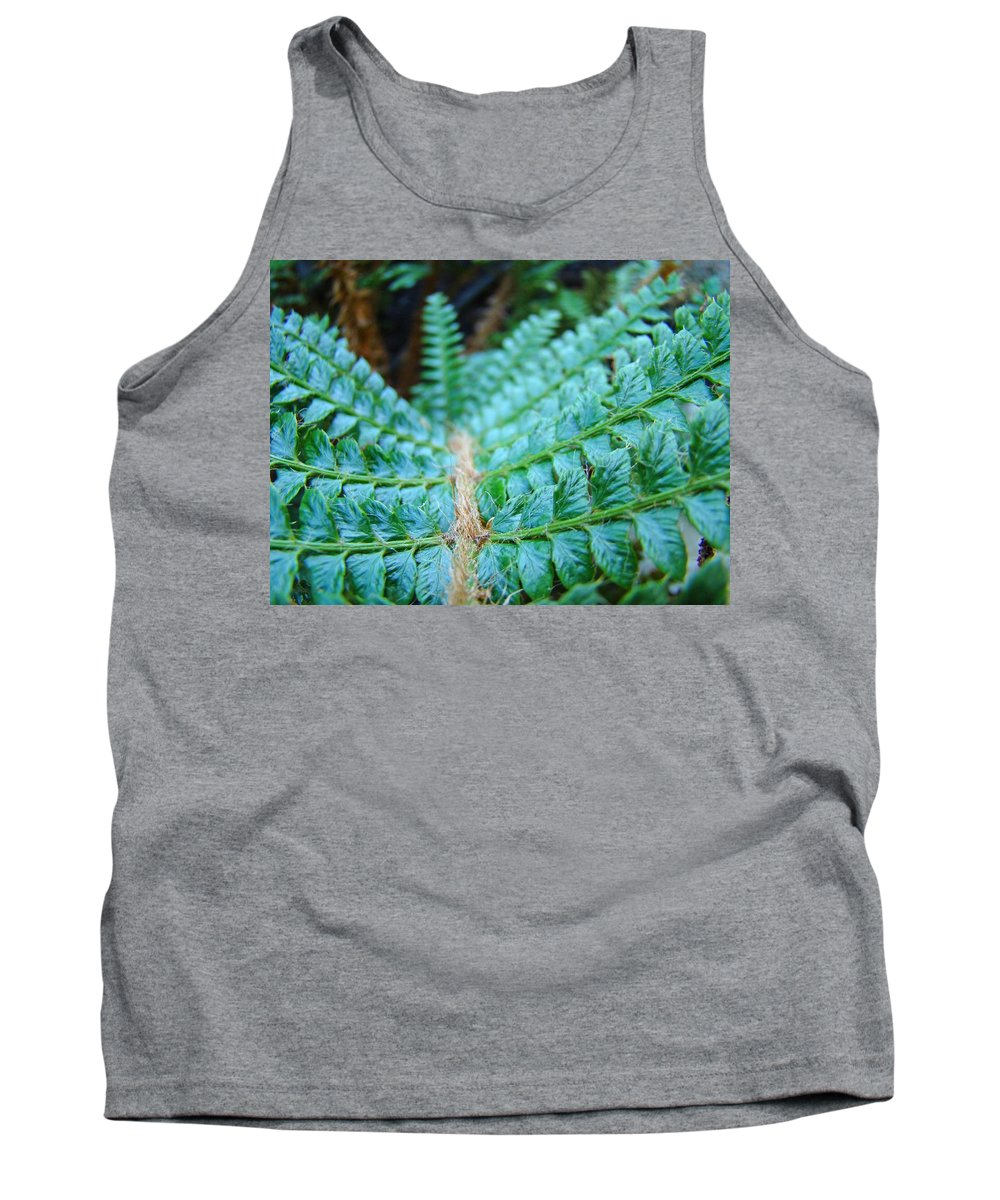 Fern Tank Top featuring the photograph Green Nature Forest Fern Art Print Baslee Troutman by Baslee Troutman
