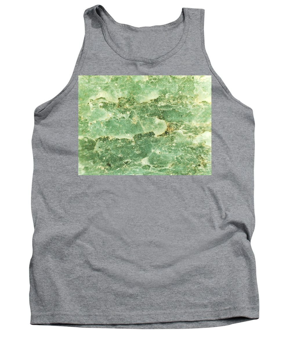 Abstract Tank Top featuring the photograph Green Turtiuus by Michael Hackney
