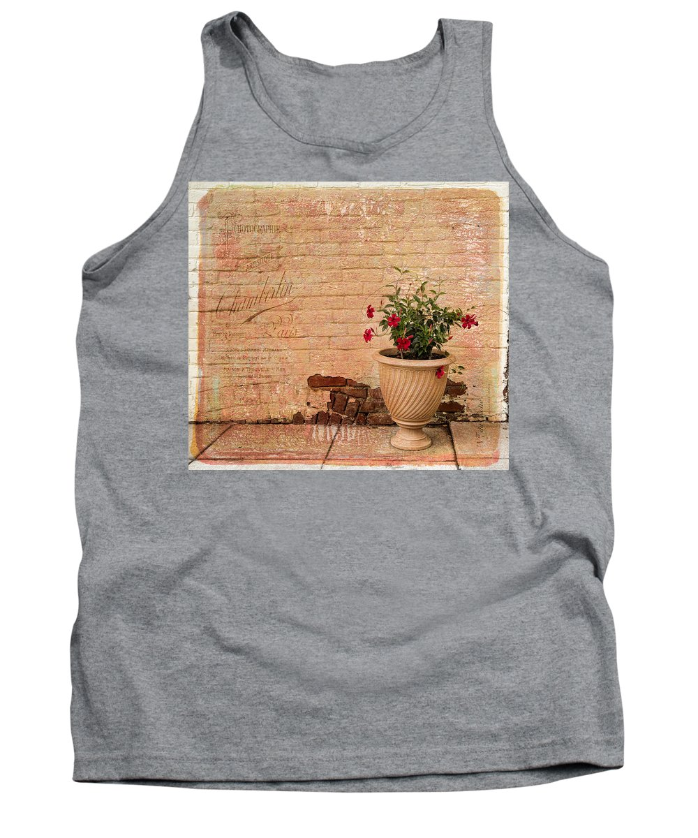 Bricks Tank Top featuring the photograph Greetings From Davis Street by Cindy Archbell
