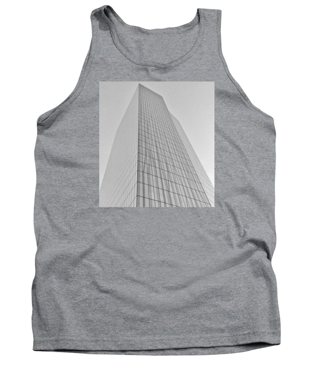 Architecture Tank Top featuring the photograph Grey Crystal by Melvi Morfe
