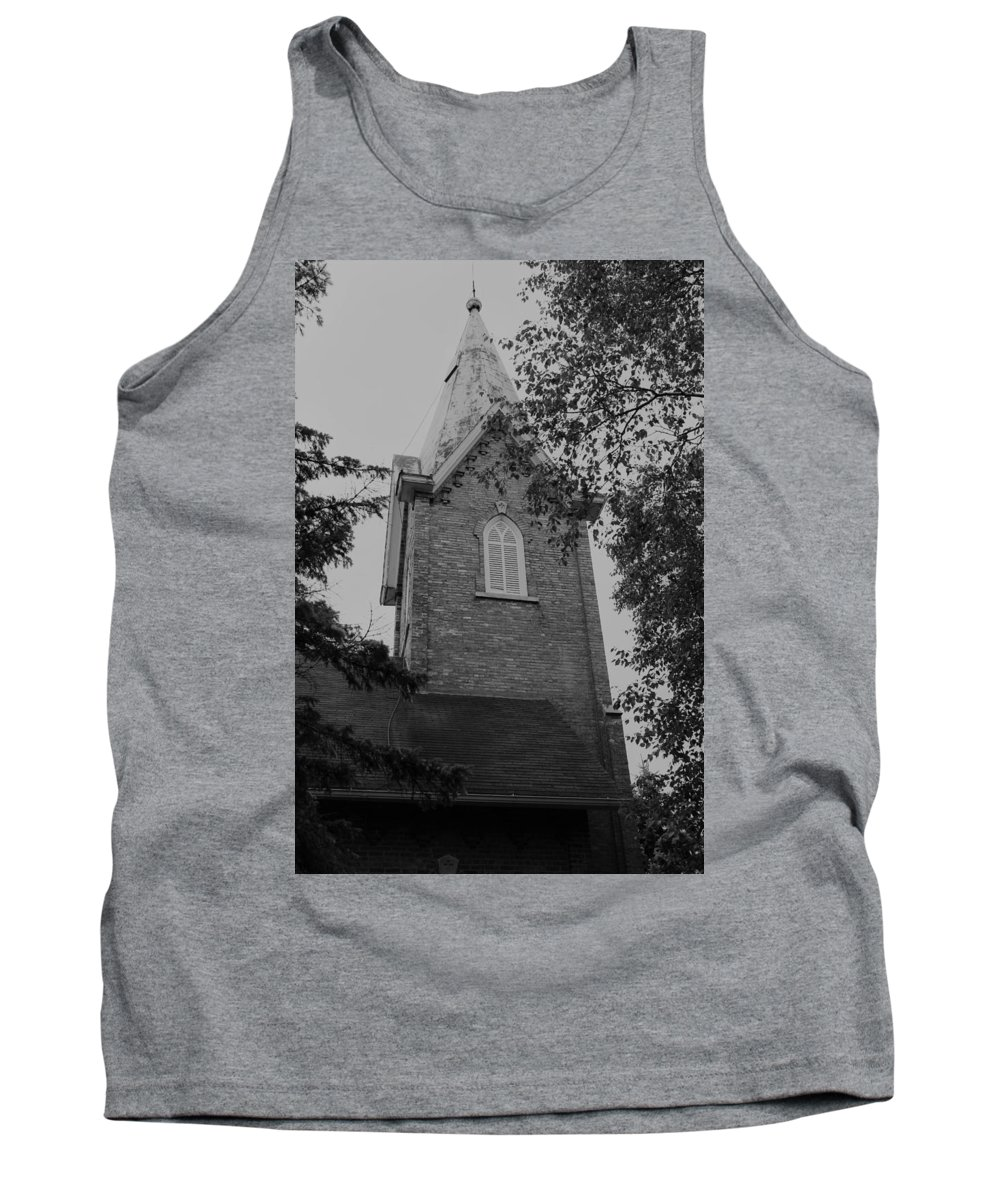 Tank Top featuring the photograph Grey Steeple by John Bichler