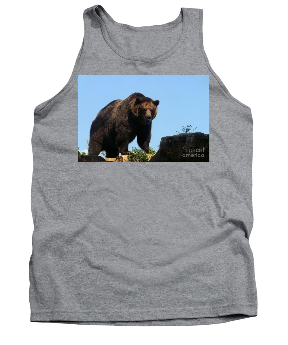 Animal Tank Top featuring the photograph Grizzly-7747 by Gary Gingrich Galleries
