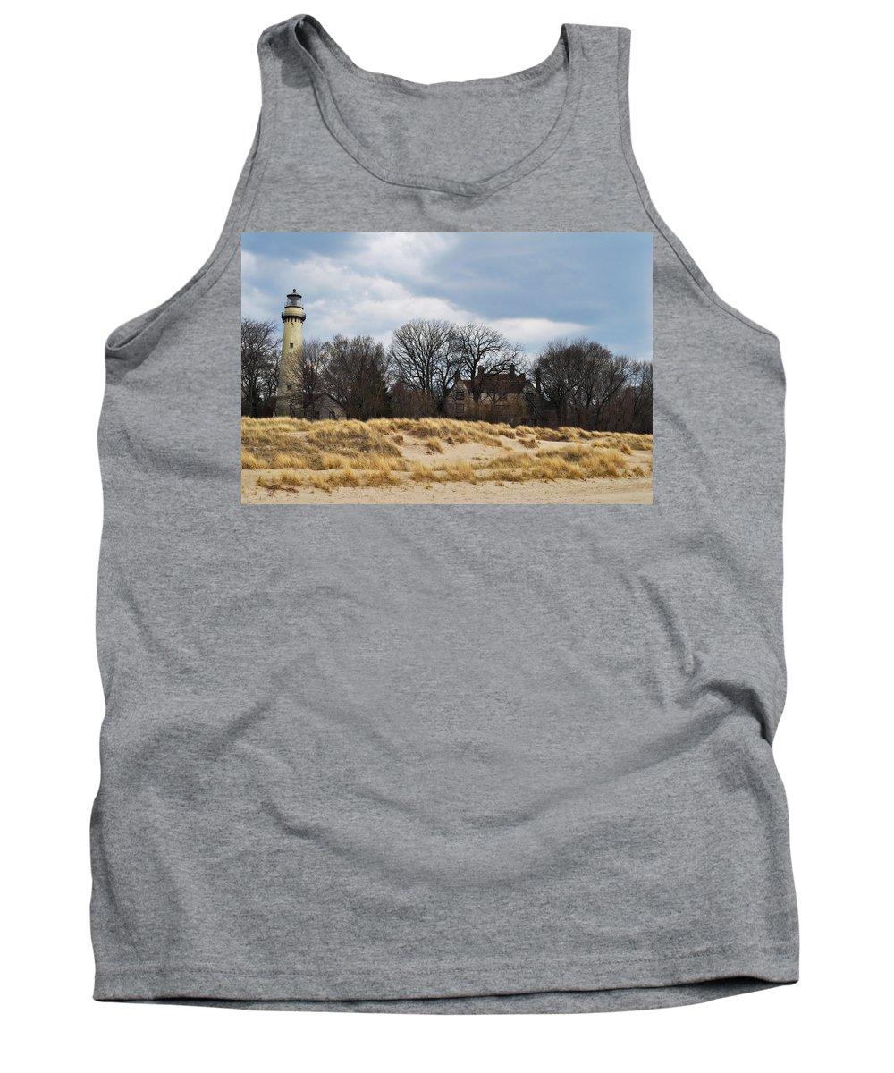 Grosse Point Lighthouse Tank Top featuring the photograph Grosse Point Lighthouse by Kyle Hanson