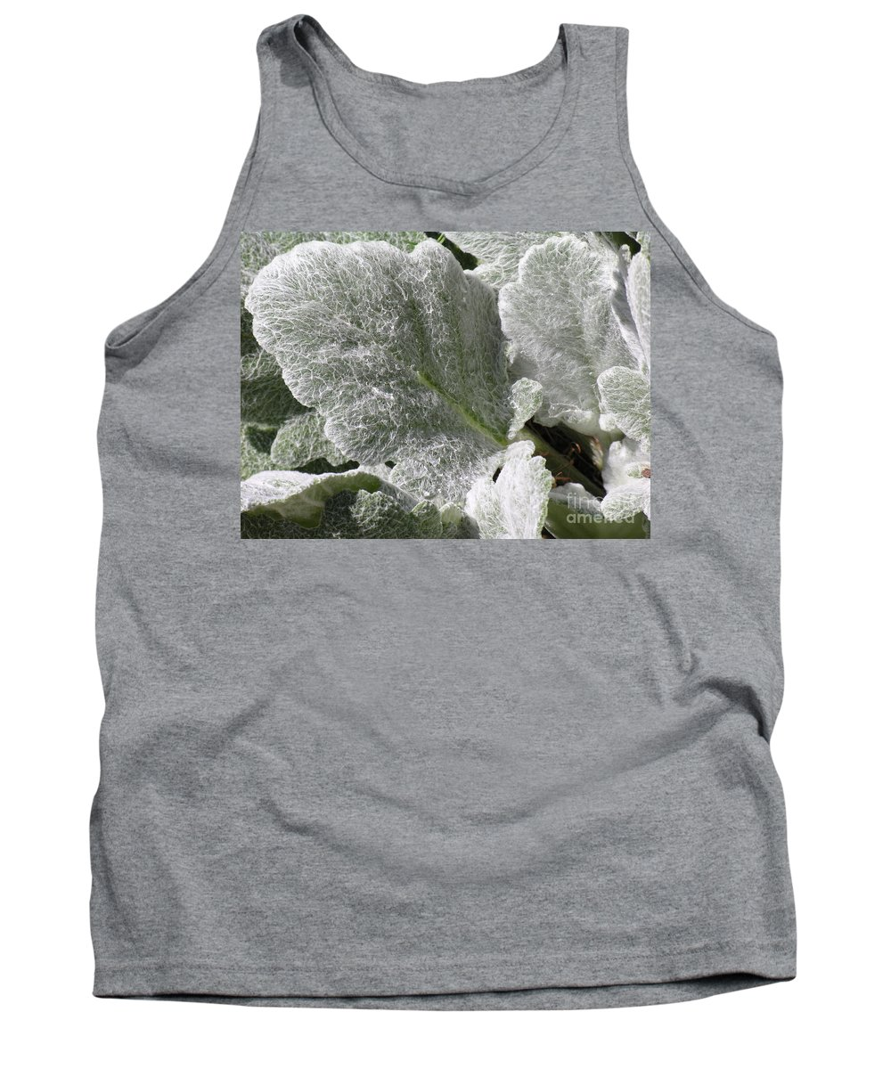Hairy Tank Top featuring the photograph Hairy Leaf by Diane Greco-Lesser