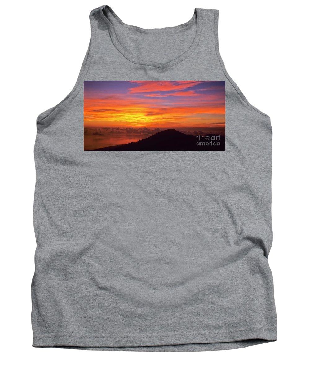 Nature Tank Top featuring the photograph Haleakala Sunrise Colors IIi by Jim Cazel