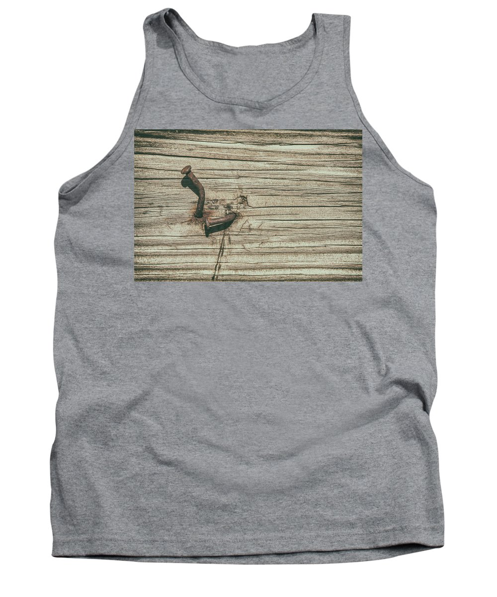 Nailed Tank Top featuring the photograph Hammered by Karol Livote