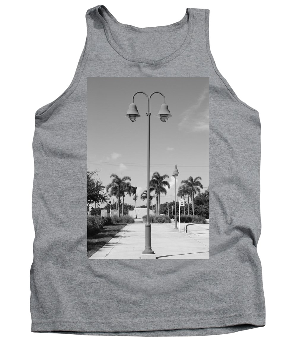 Black And White Tank Top featuring the photograph Hanging Lamps by Rob Hans