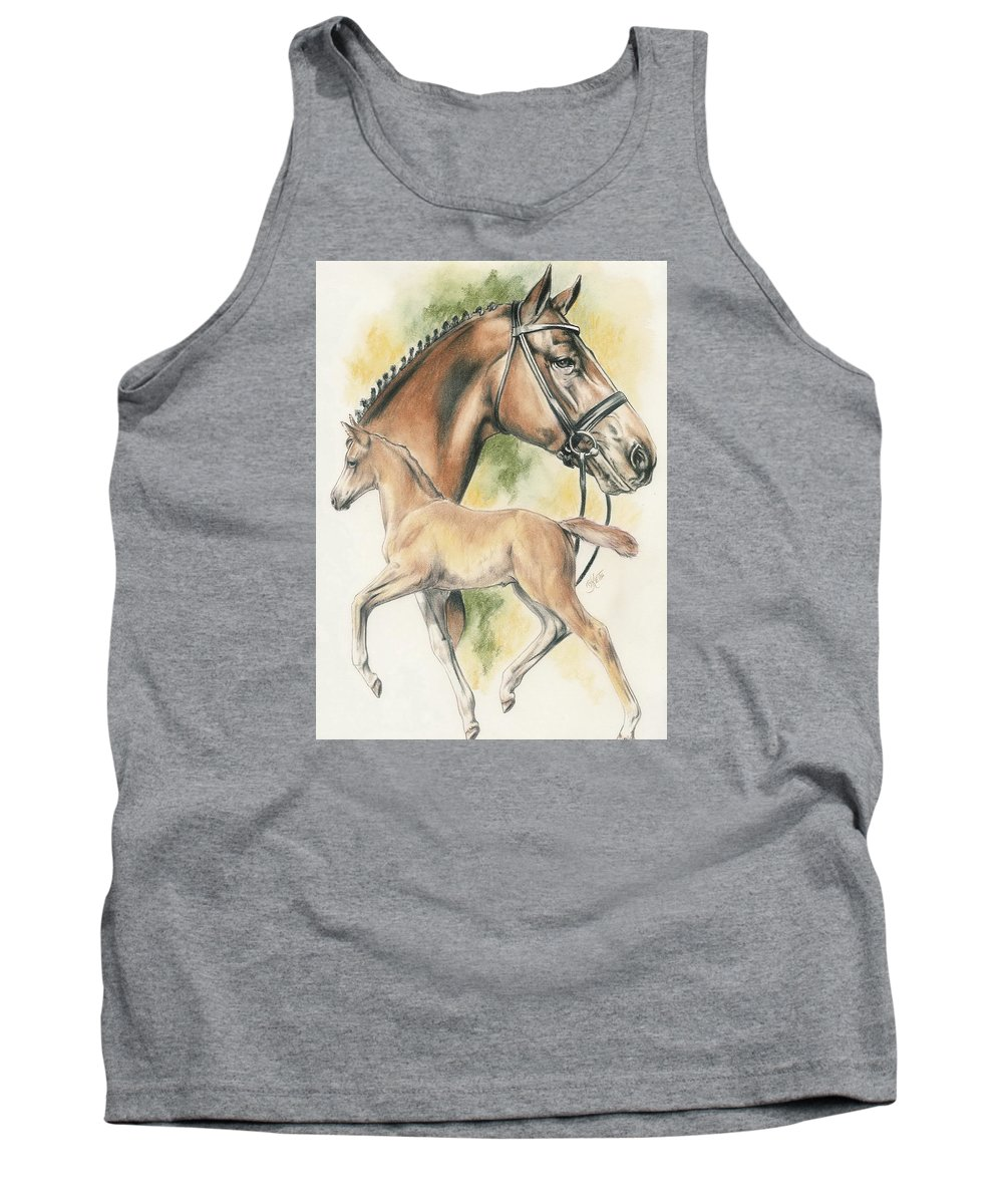 Pet Tank Top featuring the mixed media Hanoverian by Barbara Keith