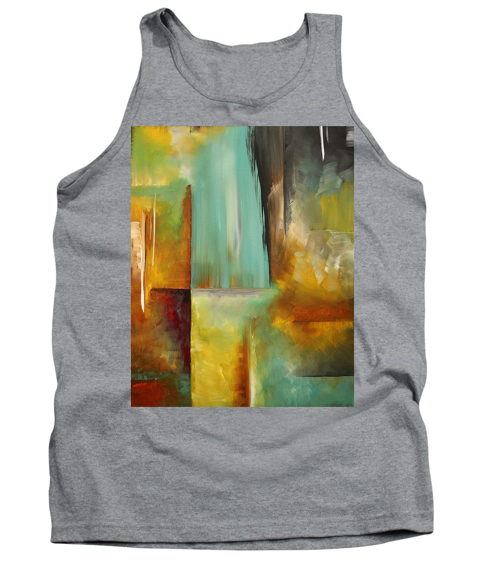 Abstract Tank Top featuring the painting Haphazardous By Madart by Megan Duncanson