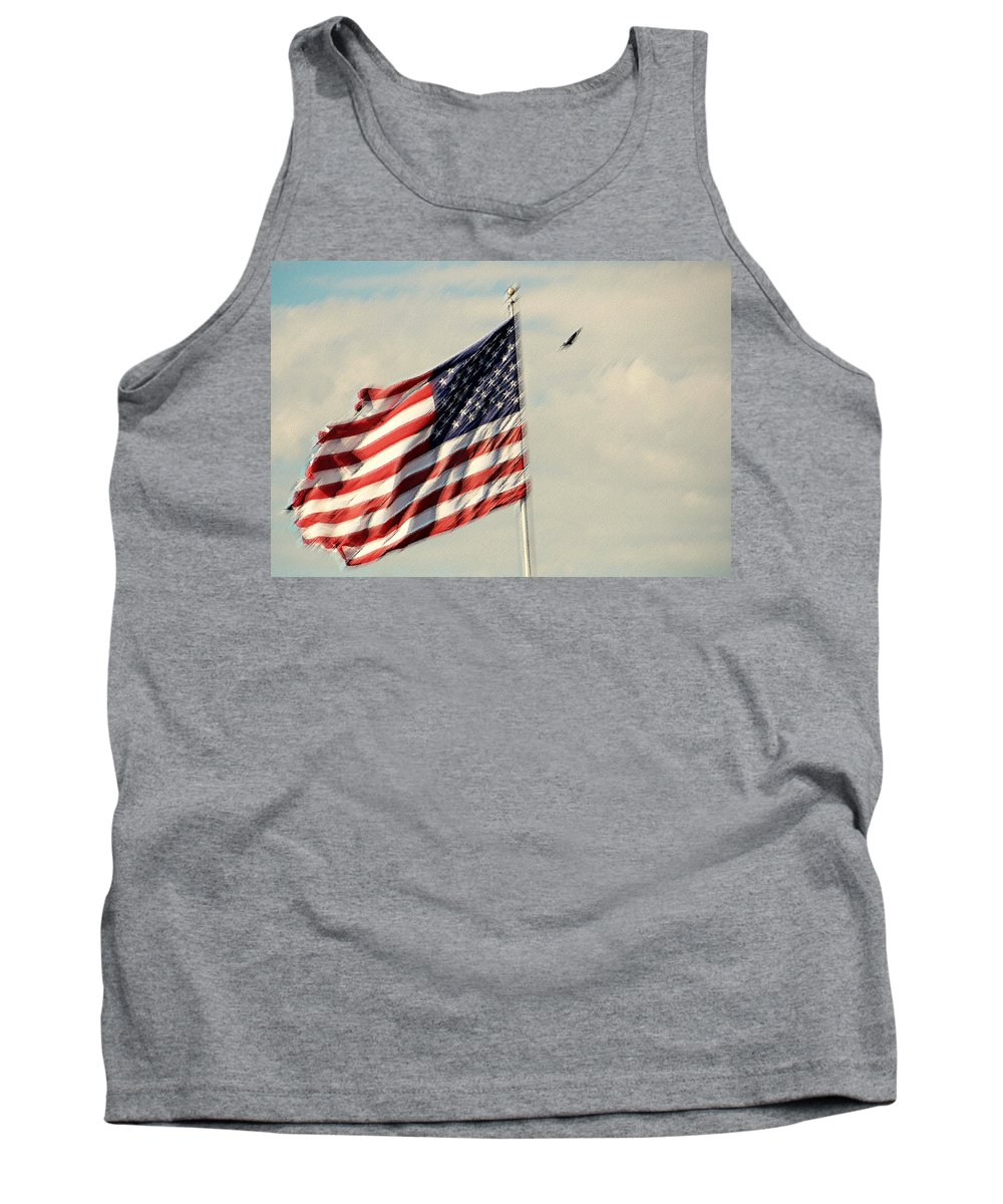 Photography Tank Top featuring the photograph Happy Birthday America by Susanne Van Hulst