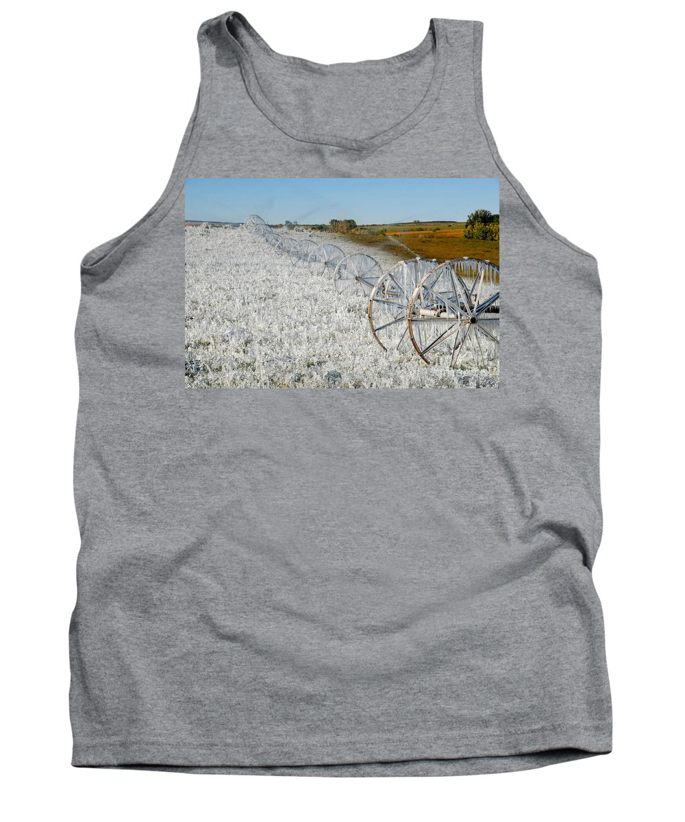 Farm Tank Top featuring the photograph Hard Land Farming by David Lee Thompson